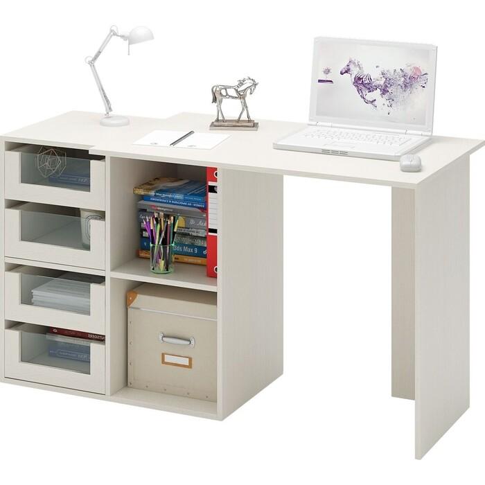 Стол компьютерный Мастер Прайм-38 дуб молочный СТЛ-Прайм-38-ДМ стол для двоих мастер стол для двоих прайм 86 белый стл прайм 86 бт