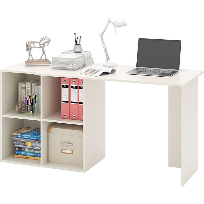 Стол компьютерный Мастер Прайм-45 дуб молочный СТЛ-Прайм-45-ДМ стол для двоих мастер стол для двоих прайм 86 белый стл прайм 86 бт
