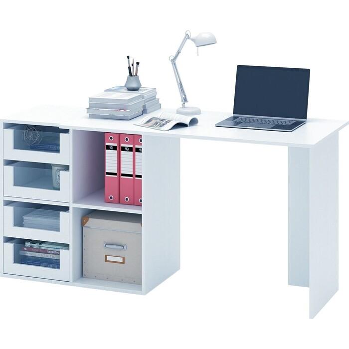 Стол компьютерный Мастер Прайм-47 белый СТЛ-Прайм-47-БТ