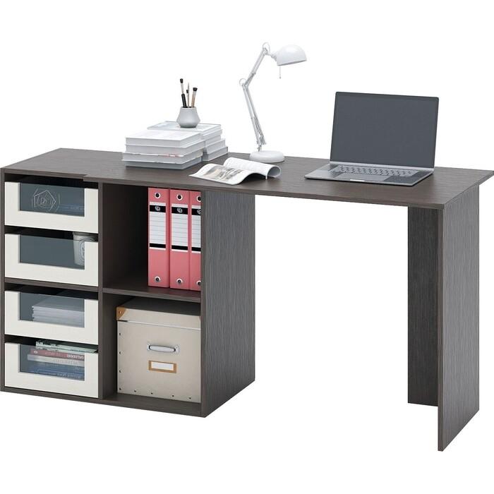 Стол компьютерный Мастер Прайм-47 венге/дуб молочный СТЛ-Прайм-47-ВД