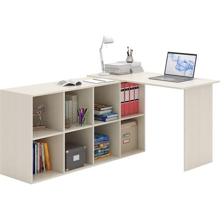 Стол угловой Мастер Прайм-49 дуб молочный СТЛ-Прайм-49-ДМ стол для двоих мастер стол для двоих прайм 86 белый стл прайм 86 бт