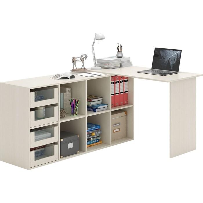 Стол угловой Мастер Прайм-51 дуб молочный СТЛ-Прайм-51-ДМ стол для двоих мастер стол для двоих прайм 86 белый стл прайм 86 бт