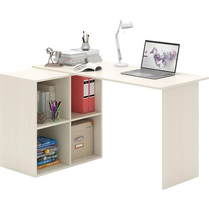 Стол угловой Мастер Прайм-66 дуб молочный СТЛ-Прайм-66-ДМ стол для двоих мастер стол для двоих прайм 86 белый стл прайм 86 бт