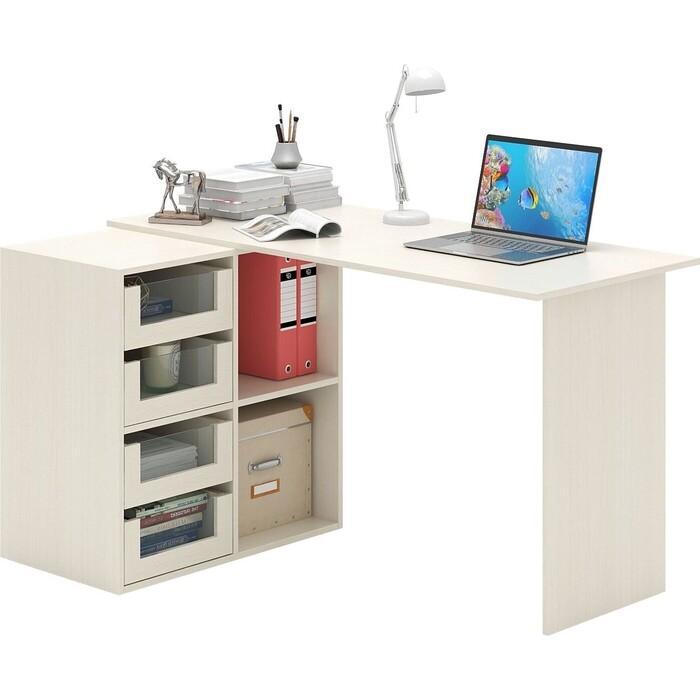 Стол угловой Мастер Прайм-68 дуб молочный СТЛ-Прайм-68-ДМ стол для двоих мастер стол для двоих прайм 86 белый стл прайм 86 бт