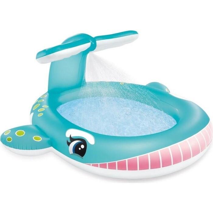 Детский надувной бассейн Intex 57440 201х196х91см Кит с распылителем, 200л, от 2 лет