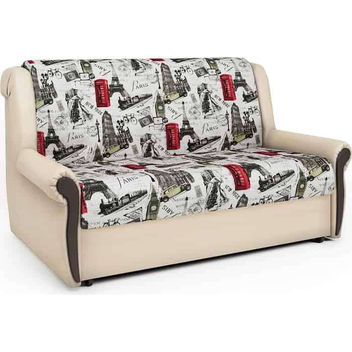 Диван-кровать Шарм-Дизайн Аккорд М 160 велюр Париж и экокожа беж