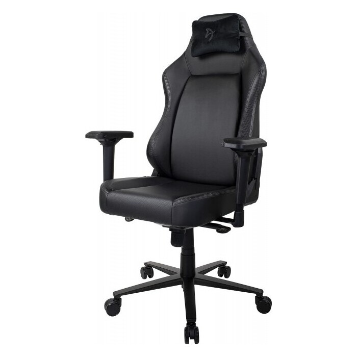Компьютерное кресло (для геймеров) Arozzi Primo PU-black-black logo