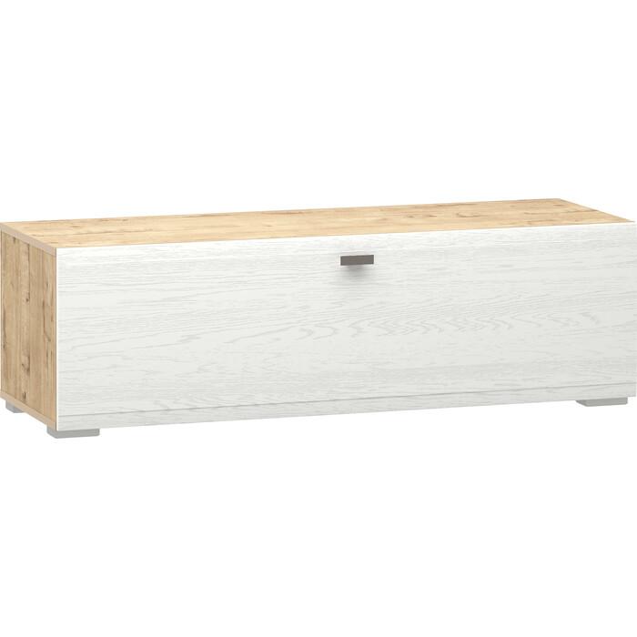 Тумба Сильва НМ 011.86 Snow wood белое дерево (ПВХ) 1 кат. дуб бунратти