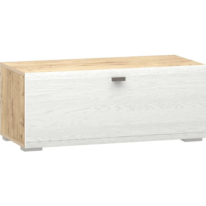 Тумба Сильва НМ 011.86-01 Snow wood белое дерево (ПВХ) 1 кат. дуб бунратти