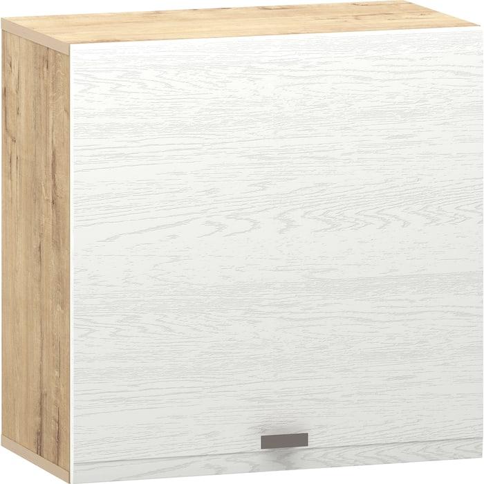Шкаф Сильва НМ 014.53-01 Snow wood белое дерево (ПВХ) 1 кат., дуб бунратти