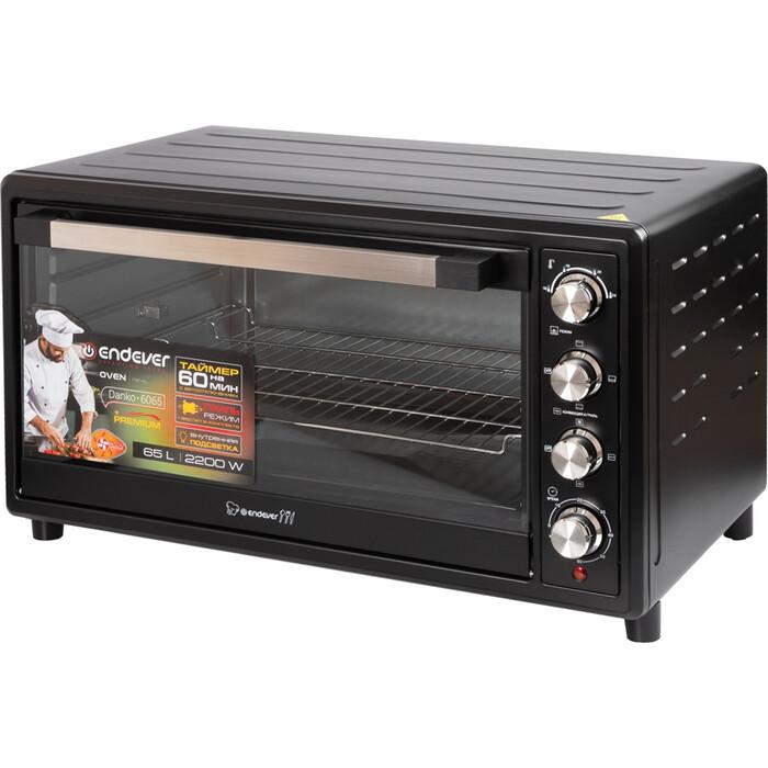 Мини-печь Endever 6065 черный/серебристый
