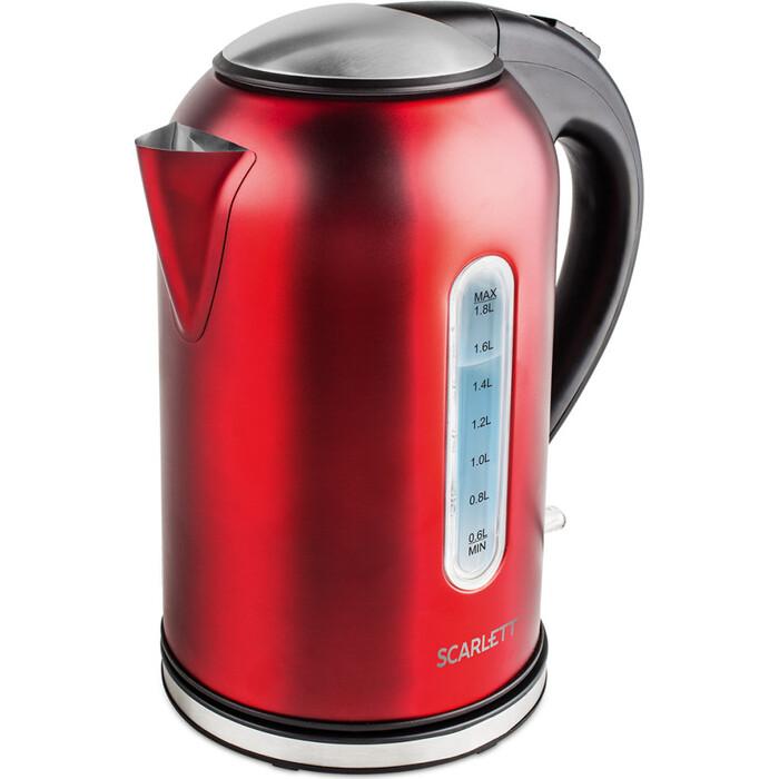 Фото - Чайник электрический Scarlett SC-EK21S56 красный чайник электрический scarlett sc ek21s76 2л 1800вт красный