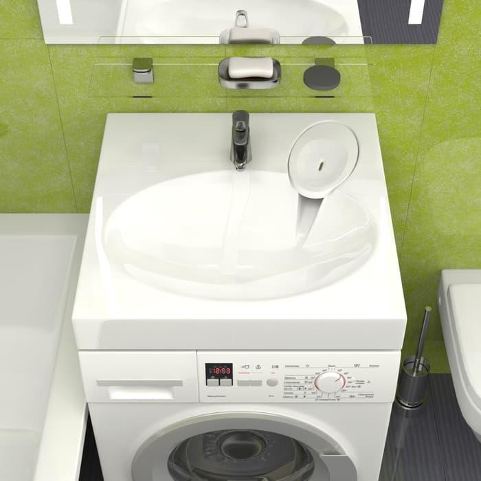 Раковина над стиральной машиной Marrbaxx Мэйси 60 с кронштейнами (4603735808253)