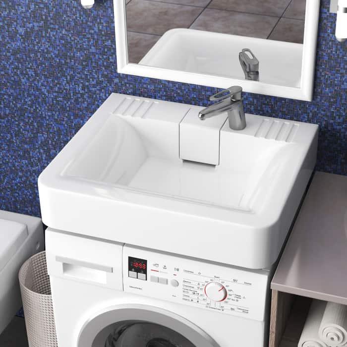 Раковина над стиральной машиной Marrbaxx Марсель 60 с кронштейнами (4603735820736)