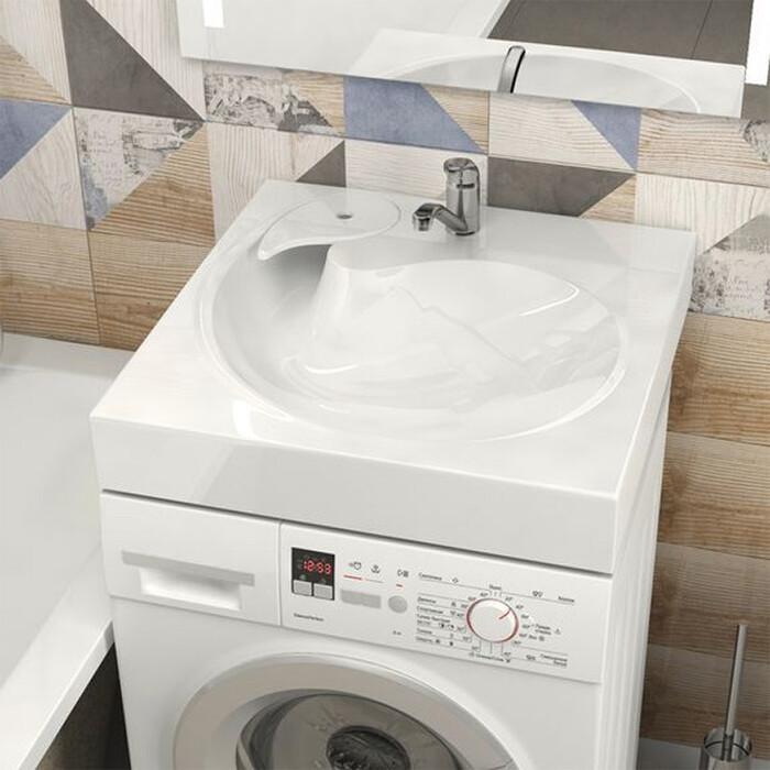 Раковина над стиральной машиной Marrbaxx Лилия 60 с кронштейнами (4603735826189)