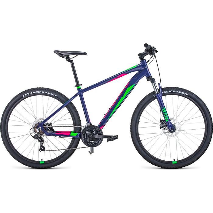Велосипед Forward Apache 27.5 3.2 Disc (2021) 21 фиолетовый/зеленый