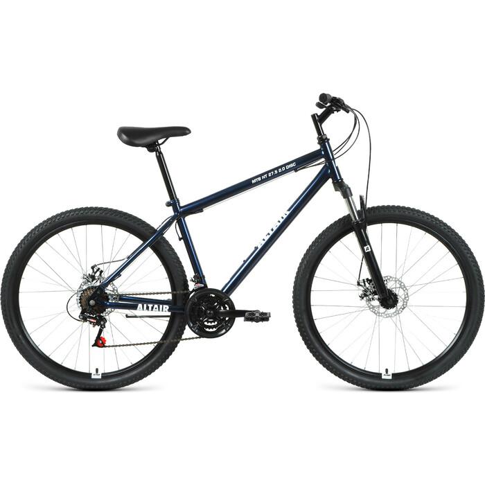 Велосипед Altair MTB HT 27.5 2.0 disc (2021) 19 темно-синий/белый