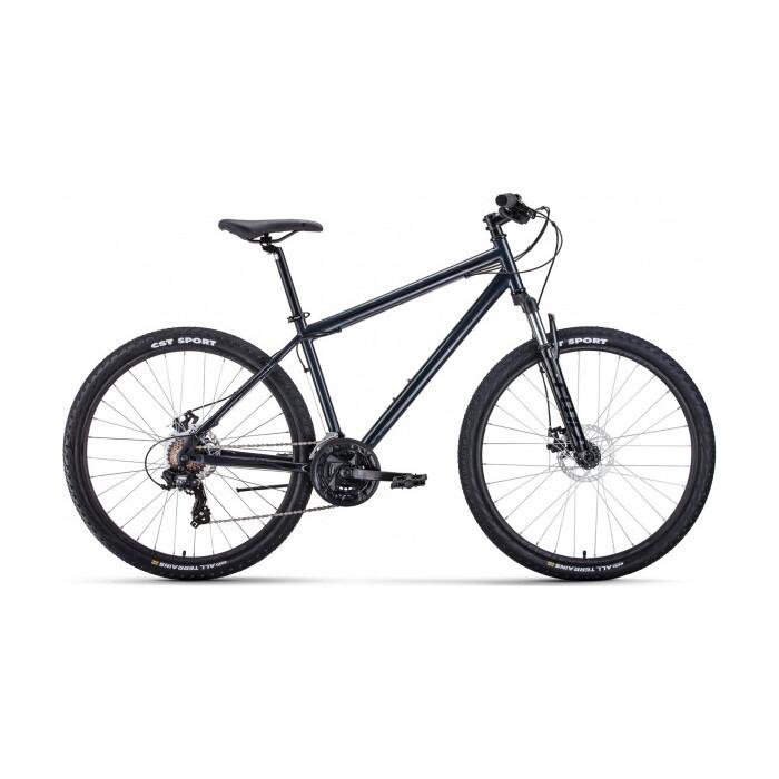 Фото - Велосипед Forward Sporting 27.5 2.2 Disc (2021) 19 темно-серый/черный велосипед giant escape 3 disc 2021 металик черный m