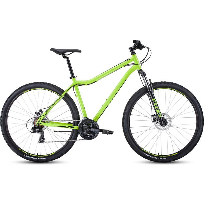 Фото - Велосипед Forward Sporting 29 2.2 Disc (2021) 21 ярко-зеленый/черный велосипед giant escape 3 disc 2021 металик черный m