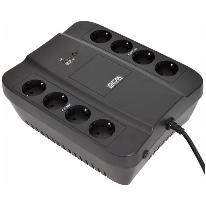 ИБП PowerCom Spider SPD-850N 850ВА 510Вт 4+4xEURO черный (SPD-850N)