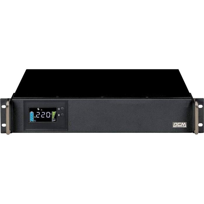 ИБП PowerCom King Pro RM KIN-1200AP LCD 720Вт 1200ВА черный