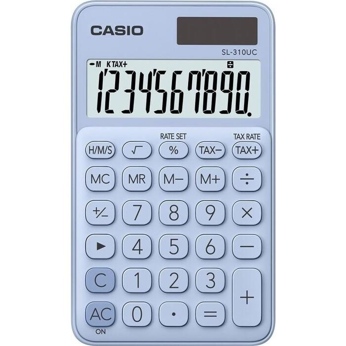 Калькулятор карманный Casio SL-310UC-LB-S-EC светло-голубой 10-разр.
