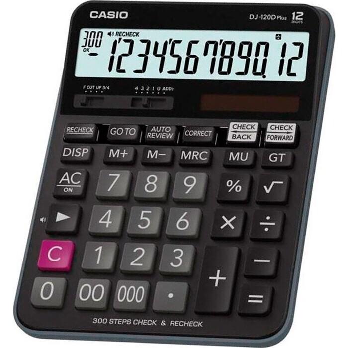 Калькулятор настольный Casio DJ-120D PLUS черный 12-разр.