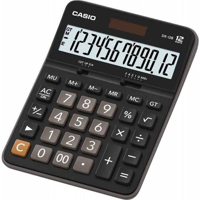 Калькулятор настольный Casio DX-12B черный/коричневый 12-разр.