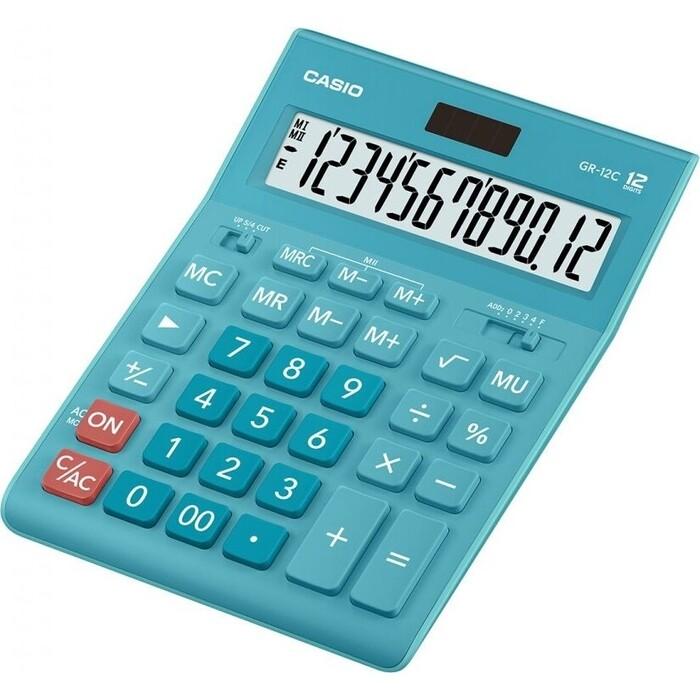 Калькулятор настольный Casio GR-12C-LB голубой 12-разр.