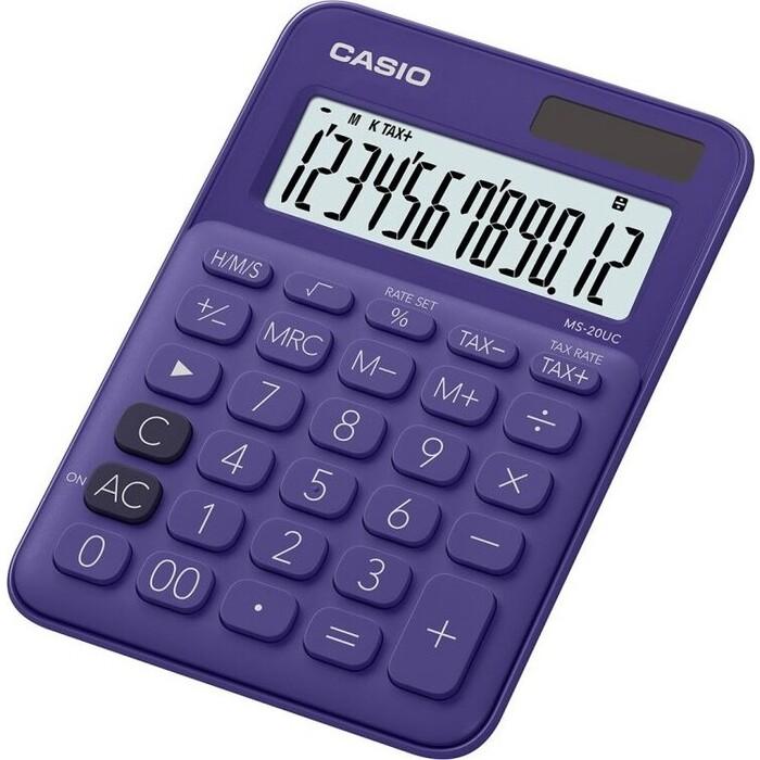 Калькулятор настольный Casio MS-20UC-PL-S-EC фиолетовый 12-разр.