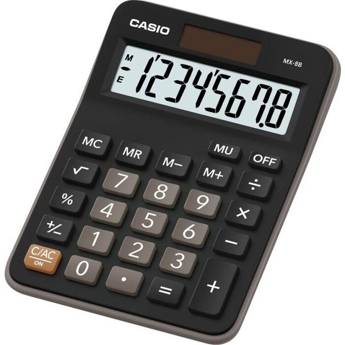 Калькулятор настольный Casio MX-8B черный/коричневый 8-разр.