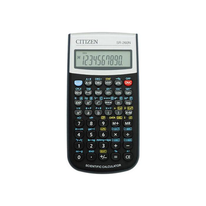 Калькулятор научный Citizen SR-260N черный 12-разр.