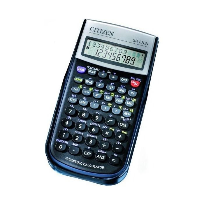 Калькулятор научный Citizen SR-270N черный 10-разр.