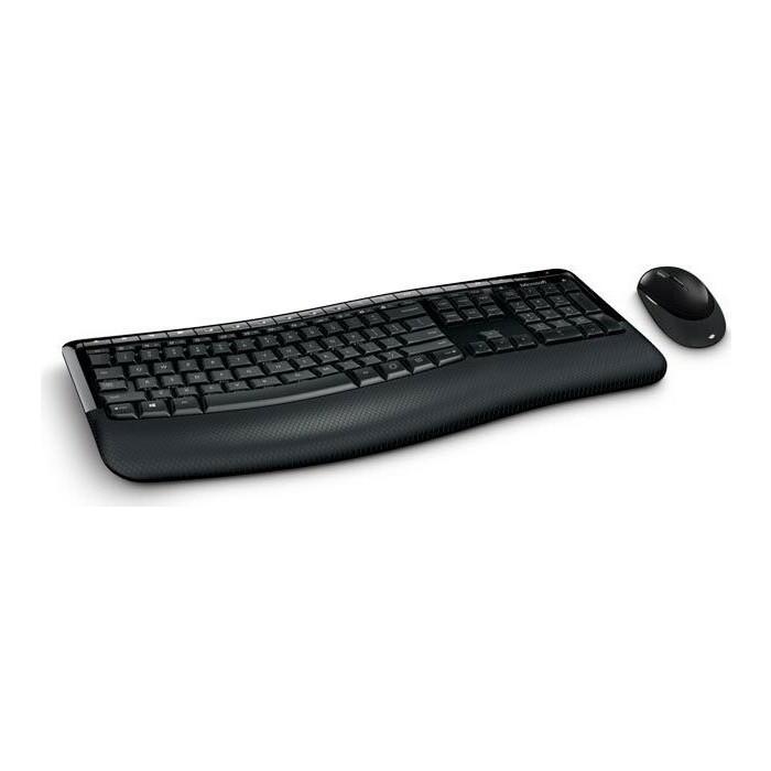 Комплект клавиатура и мышь Microsoft Comfort 5050 клав-черный мышь-черный USB беспроводная Multimedia клавиатура мышь acer okr030 клав черный мышь черный usb беспроводная slim