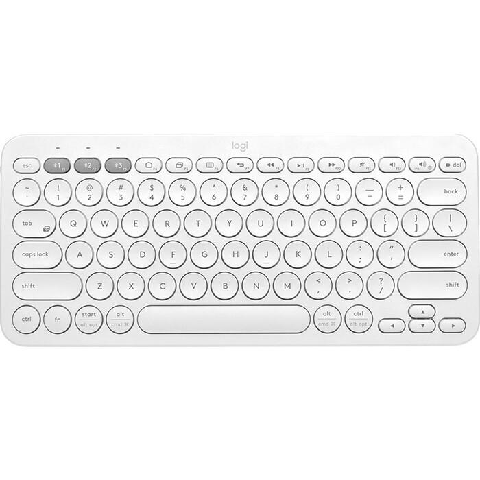 Клавиатура Logitech K380 Multi-Device белый USB беспроводная BT