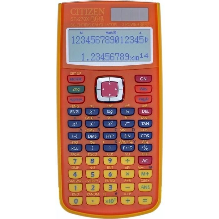 Калькулятор научный Citizen SR-270xLOLORCFS оранжевый 10+2-разр.