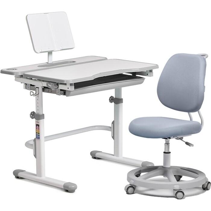 FunDesk Комплект парта Fressia Grey + кресло Pratico Grey комплект fundesk парта rimu grey кресло pratico grey