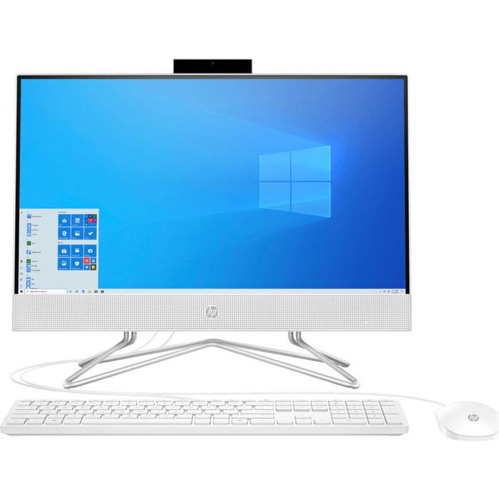 Моноблок HP 22-df0001ur white (Core i3 1005G1/4GB/1Tb/noDVD/MX330 2GB/W10) (14P40EA)