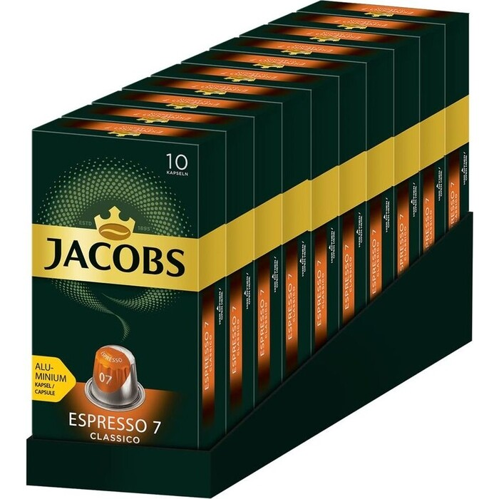 Кофе капсульный JACOBS MONARCH Espresso 7 Classico упаковка:100капс. (8052287) Nespresso