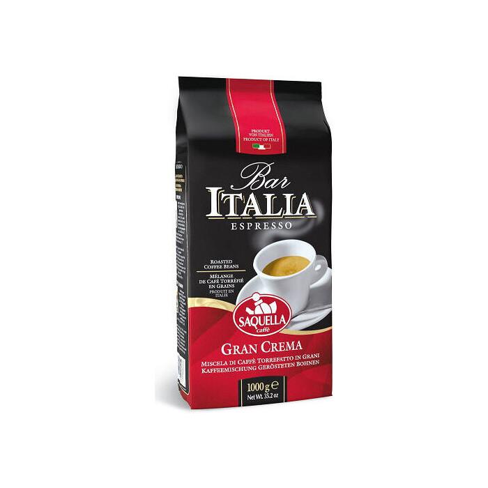 Кофе зерновой SAQUELLA BAR ITALIA GRAN CREMA 1000г. (SA075)