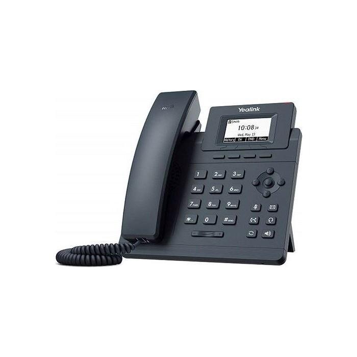 VoIP-телефон Yealink SIP-T30P without PSU, 1 линия, PoE, без БП (SIP-T30P PSU)