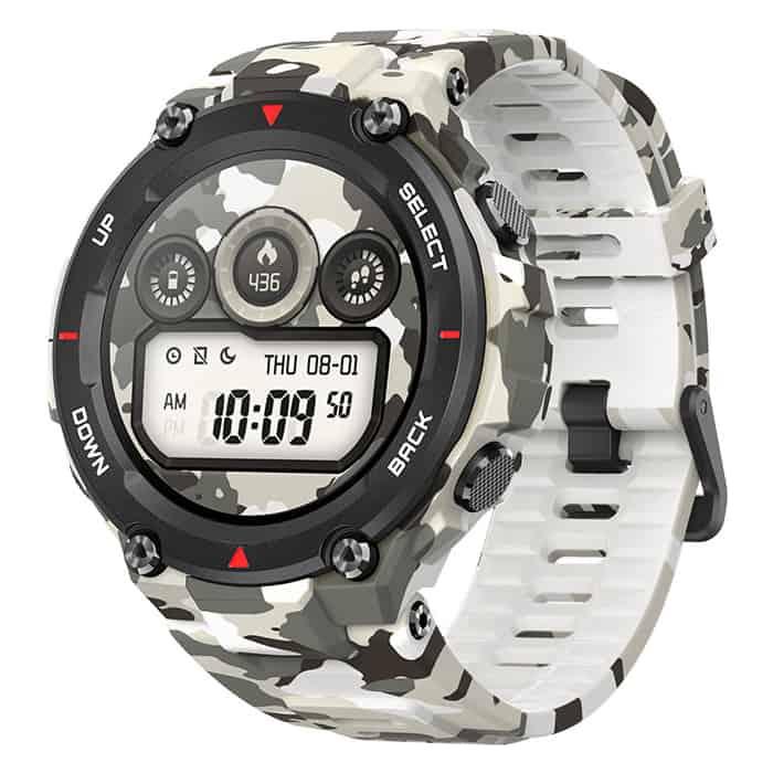 умные часы amazfit t rex smart watch standart eu зеленый камуфляж а1919 Смарт-часы Amazfit T-Rex 1.39 AMOLED камуфляж