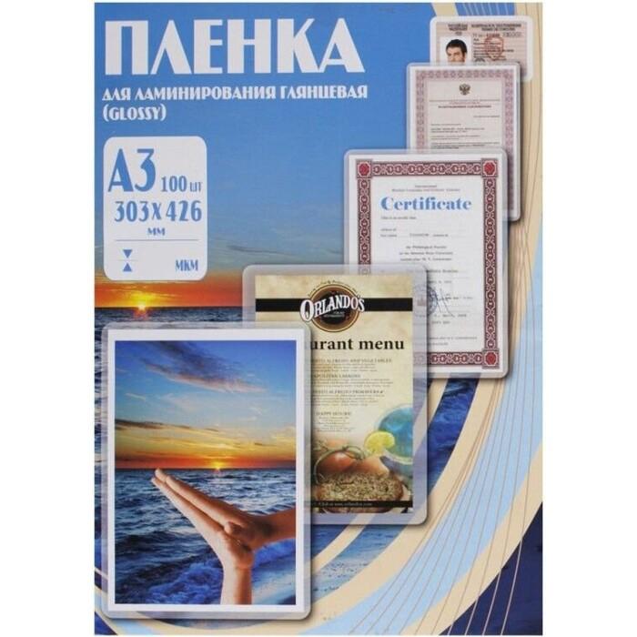 Фото - Пленка для ламинирования Office Kit 80мкм A3 (100шт) глянцевая 303х426мм PLP10330 office kit cutter a3