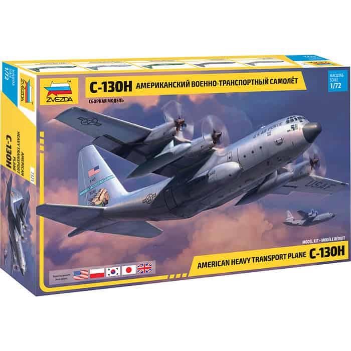 Сборная модель Звезда Американский военно-транспортный самолёт С-130Н