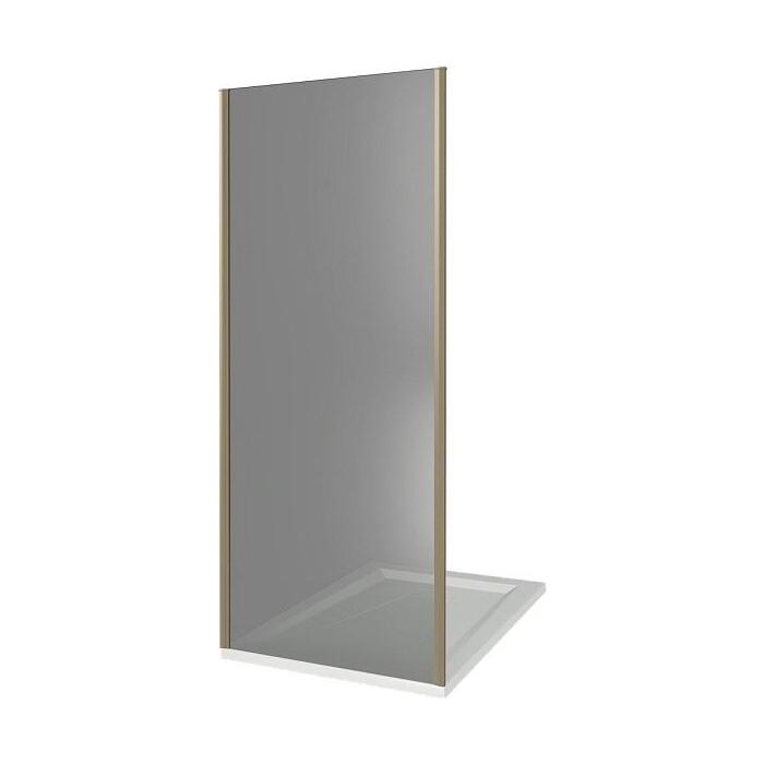 Боковая стенка Good Door Jazz 90 стекло тонированное, профиль бронзовый (SP-90-B-BR)