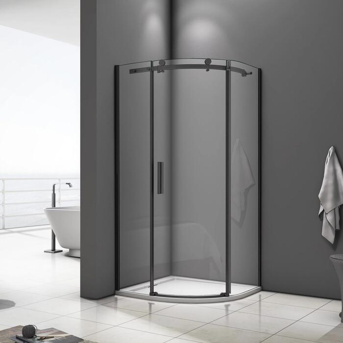 Душевой уголок Good Door Galaxy 90x90 стекла прозрачные, профиль черный (R-90-C-B)