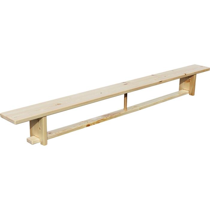 Скамья гимнастическая ZSO 2,4 м на деревянных ножках