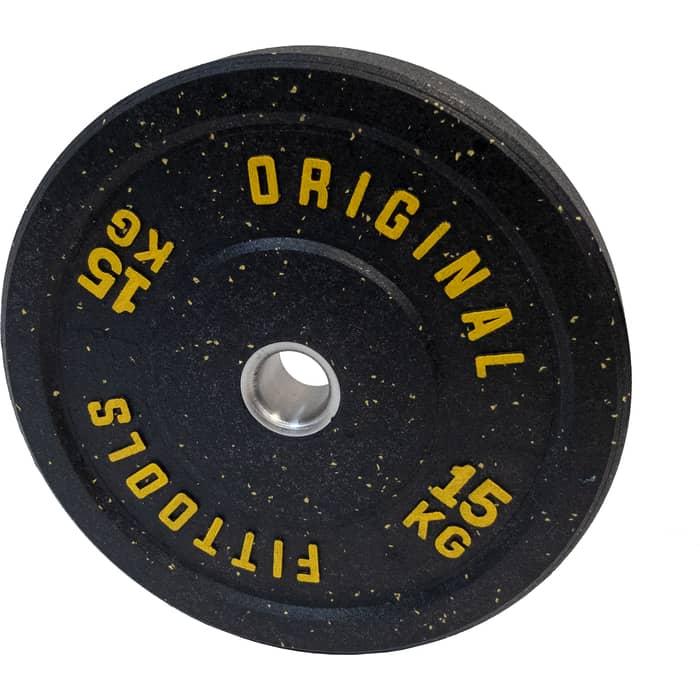 Диск бамперный Original FitTools 15 кг FT-RPI-15