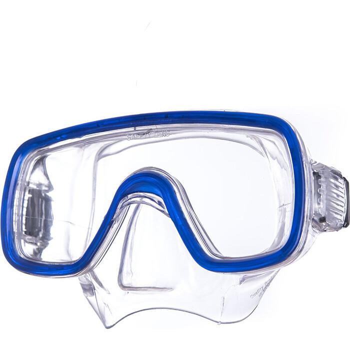 Маска для плавания Salvas Domino Sr Mask, арт. CA150C1TBSTH, закален.стекло, Silflex, р. Senior, синий маска для плавания salvas geo sr mask арт ca175s1rysth закален стекло силикон р senior красный
