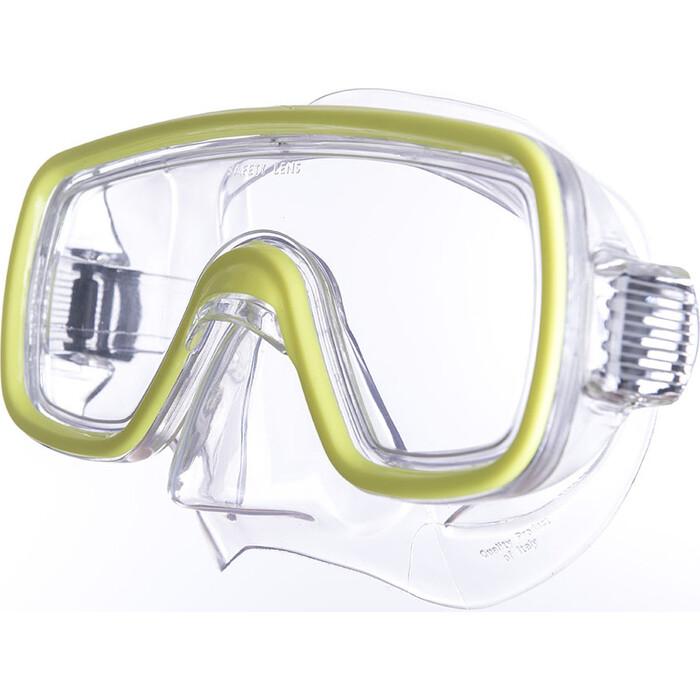 Маска для плавания Salvas Domino Sr Mask, арт. CA150C1TGSTH, закален.стекло, Silflex, р. Senior, желтый маска для плавания salvas geo sr mask арт ca175s1rysth закален стекло силикон р senior красный